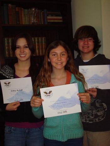Ashley, Christine and Matt McNeill receive the President's Volunteer Service Award