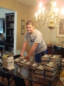 Congratulations to Matt McNeill a Success Won't Wait literacy volunteer and one of four winners of the Kindness Hero Award from Heart Jam. Matt McNeill is pictured here working on the 2010 Toys for Tots donation. The goal? Send at least 1,000 packages including 5,000 books.