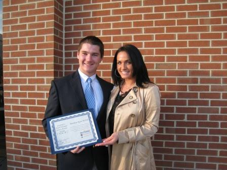 Success Won't Wait volunteer Matthew McNeill, pictured here with Success Won't Wait co-founder Vincenza Carrieri-Russo, is a former winner of the Governor's Outstanding Youth Volunteer Service Award.