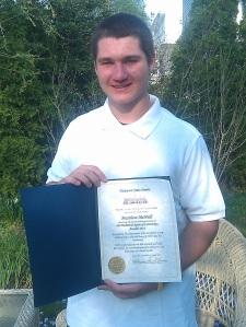 Success Won't Wait literacy volunteer Matt McNeill receives commendation from the Delaware State Senate