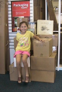 Christine McNeill in 2005, mailing books to US troops stationed overseas.