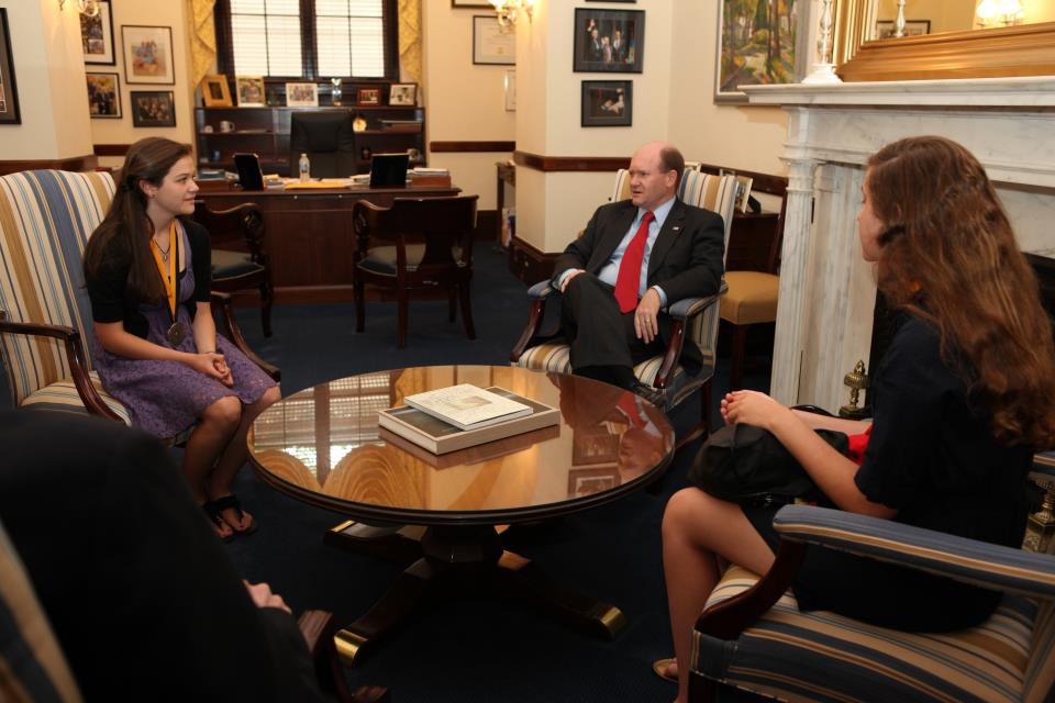 Beau Delawareu0027s Senator Chris Coons Meets With Success Wonu0027t Wait Literacy  Volunteer Christine McNeill