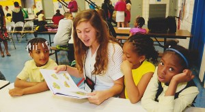 Success Won't Wait volunteer Christine McNeill does read-aloud sessions at a Washington, D.C. elementary school!