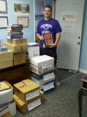 Archmere Academy senior and Success Won't Wait volunteer Matt McNeill provides 500+ books to Camden Head Start program!