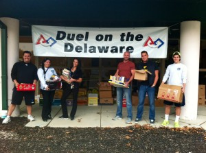 Success Won't Wait volunteers at the 2013 Duel on the Delaware Used Book Drive. Over 4,500 lbs. of books were collected at the annual event.