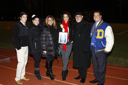 Vincenza's family celebrates her achievement! Left to right: Brother Vincenzo, sister Margerhita, mom Johanna, Vincenza, dad Vinny, and brother Italo.
