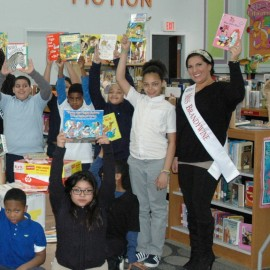 Margherita Carrieri-Russo, Miss Brandywine 2014 visits an elementary school classroom and shares her love of reading!