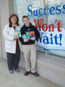 Odyssey Charter School, Success Won't wait book donation, 100 books