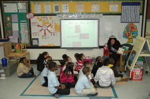 Success Won't Wait co-founder Vincenza Carrieri-Russo shared her own love of reading and even did a little read-aloud session with students at Warner Elementary.