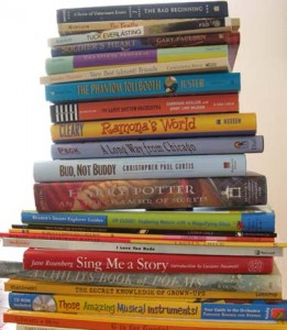 stack of kids books