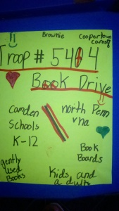 Brownie Troop Book Drive 2015
