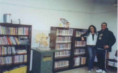 Vincenza and Italo Carrieri-Russo complete the original Telegraph Road Learning Center Library in 2007!