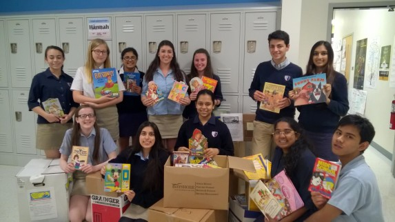 Members of the Newark Charter School's Jefferson Council collected almost 1,000 books for Success Won't Wait's literacy programs!