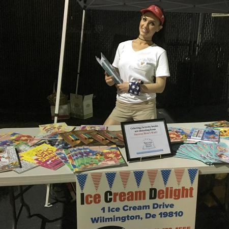 Success Won't Wait literacy organization book giveaway Delaware, Ice Cream Delight Delaware, National Ice Cream Day Delaware