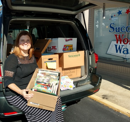 Success Won't Wait in Delaware donated 1200 children's books to Treasures for Educators,