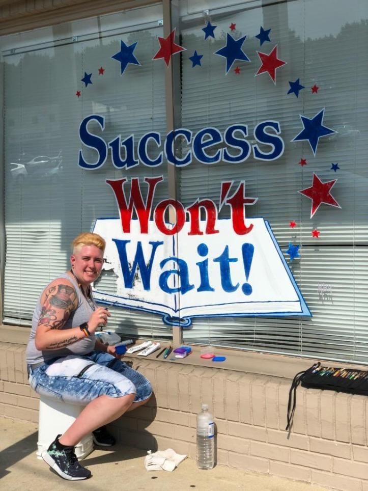 Success Won't Wait gets a much-needed facelift thanks to volunteer Hilary Newman