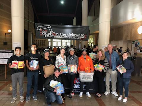 Susan McNeill, Vincenza Carrieri-Russo and Success Won't Wait volunteers at the 2019 Duel on the Delaware Book Drive!